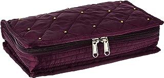 Amazon Brand - Solimo Satin Jewellery cum Makeup Kit, Purple