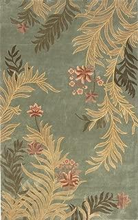 Momeni Rugs HARMOHA-03SAG2030 Harmony Collection, Traditional Area Rug, 2' x 3', Sage