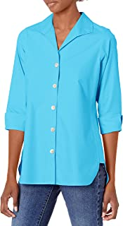 Foxcroft womens Pandora Pinpoint Non-Iron Tunic Tunic Shirt
