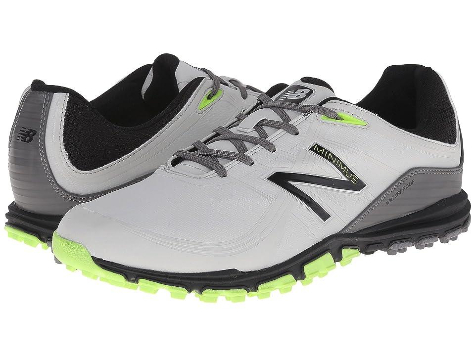 New Balance Golf NBG1005 Minimus (Grey/Green) Men's Golf Shoes