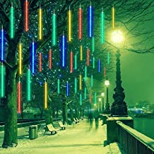 Meteor Shower Rain Lights LED-kerstboomlicht, 30cm 8 buizen Waterproof Drop Icicle Snow Falling Raindrop Cascading Lights ...