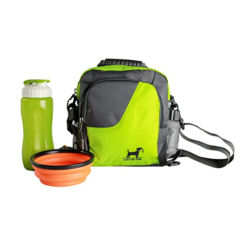 fdcc05b09f1 Let s Go Fido Dog Walking Bag Comes with Collapsible Bowl and Water Bottle.  Converts to