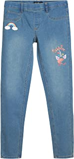 Sponsored Ad - dELiAs Girls' Jeggings - Embroidered Stretch Pull-On Denim Jeans (Size: 7-16)
