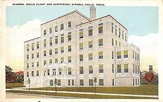 Mineral Wells Texas Mineral Wells Clinic Sanitarium Antique Postcard V10640
