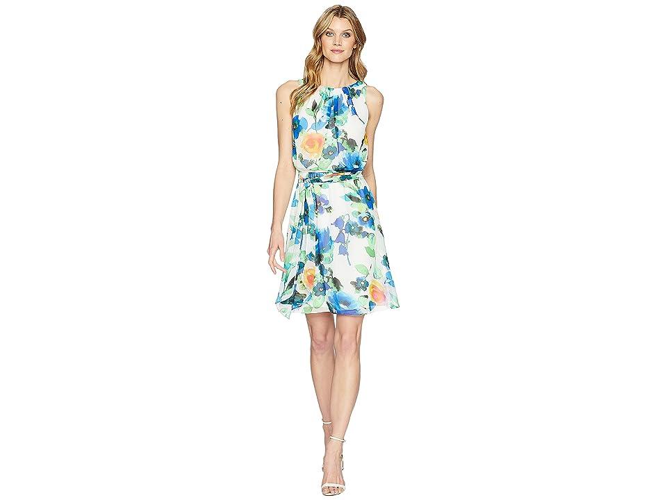 CHAPS Floral Georgette Dress (Symphony Floral) Women