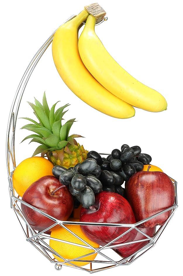 Fruit basket banana hanger, removable banana hanger, home decoration (chrome plated)