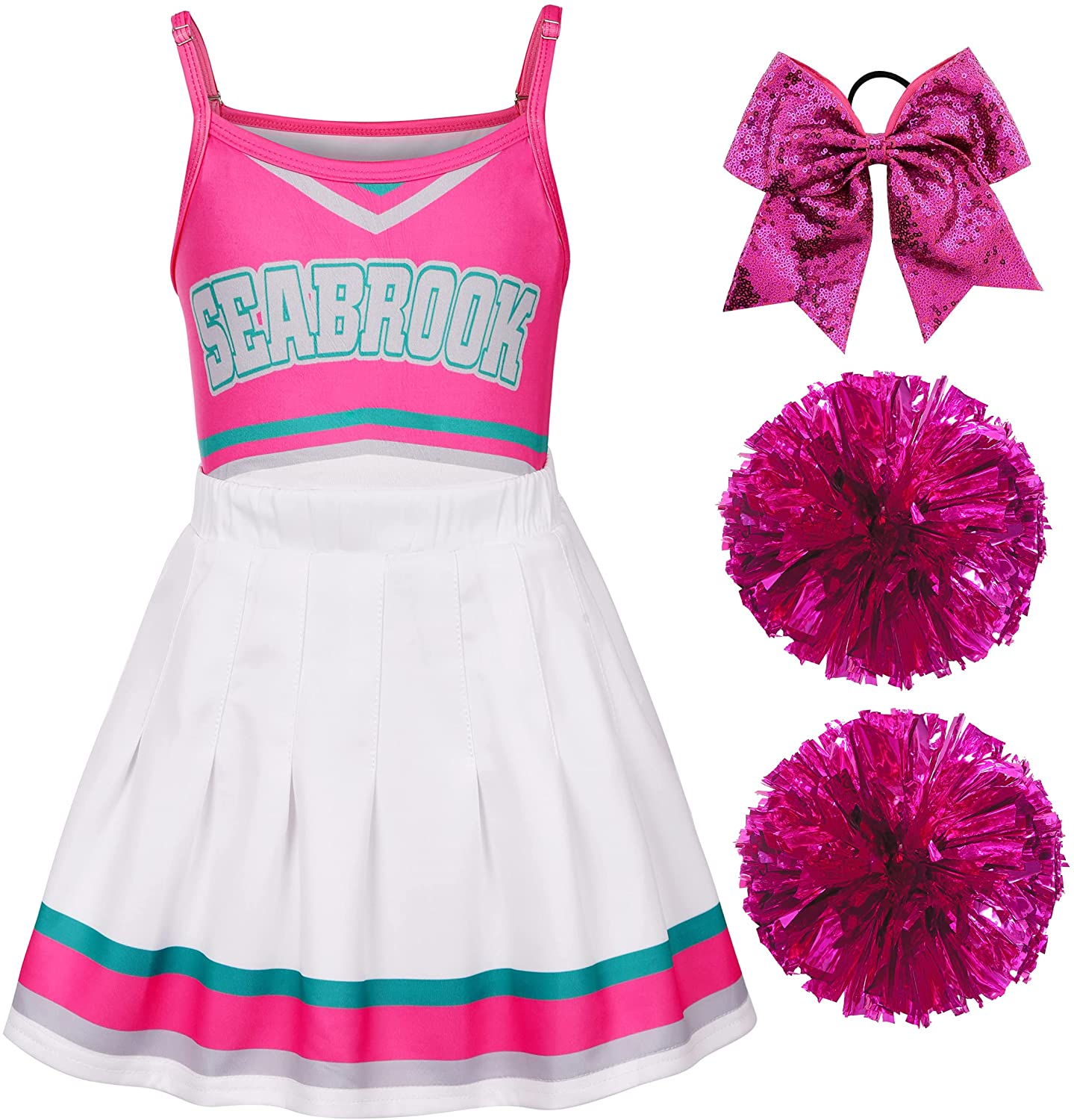 Girls depot Beauty products Cheerleader Costume Cheerleading Outfit Ha Dress for Fancy