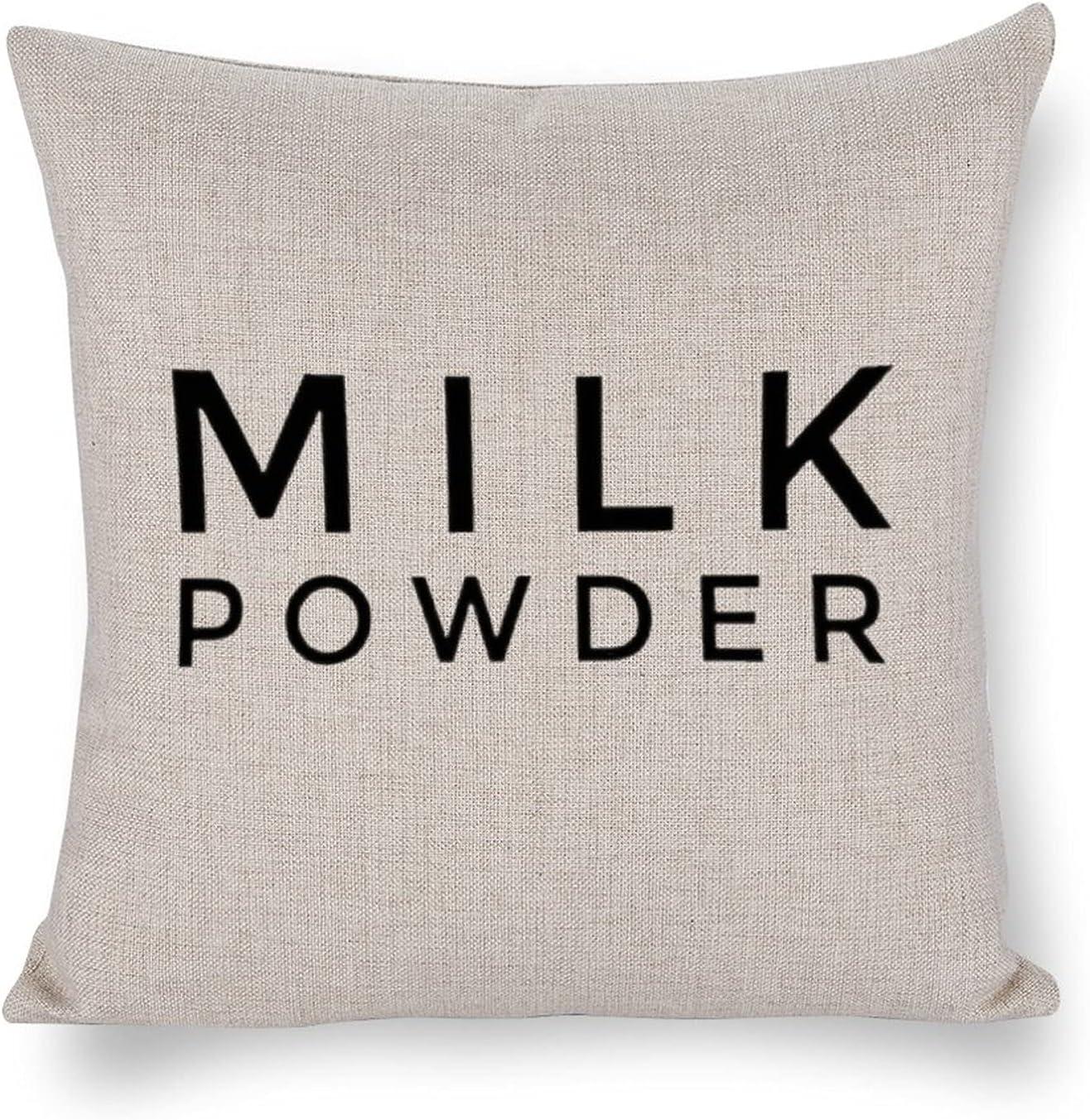 UTF4C Milk Powder Luxury goods Cotton Linen Sofa Bed Art Cushion unisex Home Design