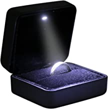Omeet Mini Size Metal Glossy with LED Jewelry Gift Box - Easy to fit into Your Pocket or Handbag