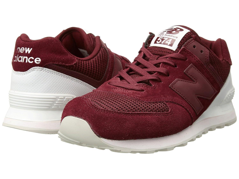 (ニューバランス) New Balance メンズランニングシューズ?スニーカー?靴 ML574 Mercury Red/White レッド/ホワイト 4 (22cm) D
