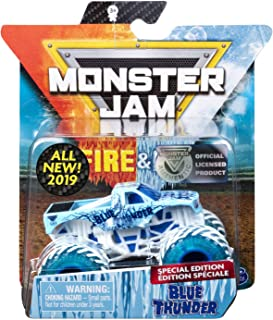 MJ 2019 Monster Jam Fire & Ice Blue Thunder Special Edition 1:64 Scale
