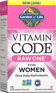Garden of Life Vitamin Code Raw One for Women, Once Daily Multivitamin for Women - 75 Capsules, One a Day Women, Vitamins,...