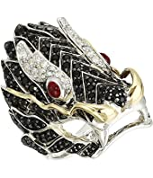 John Hardy - Legends Naga Lava Dragon Ring with Ruby On The Eyes, Black Sapphire and White Sapphire