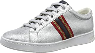GEOX D Jaysen A Womens Leather Trainers/Shoes - All White