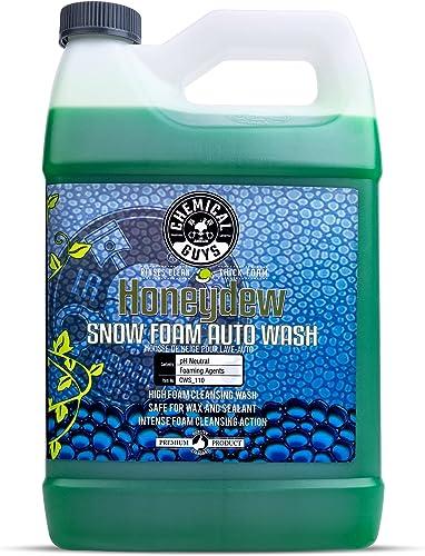 Chemical Guys CWS_110 Honeydew Snow Foam Car Wash Soap (Works with Foam Cannons, Foam Guns or Bucket Washes), 1 Gallo...