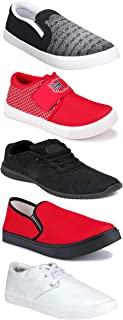WORLD WEAR FOOTWEAR Sports Running Shoes/Casual/Sneakers/Loafers Shoes for MenMulticolors (Combo-(5)-1219-1221-1140-720-749)