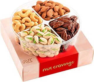 Best Holiday Nuts Gift Basket, 4-Sectional Elegant Mixed Nuts Assortment, Gourmet Christmas Food Box Prime Gift, Great for Thanksgiving, Birthday, Mothers, Fathers Day, Corporate Tray By Nut Cravings Review
