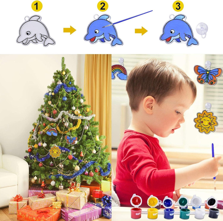 NextX Arts and Crafts for Kids Ages 6-12 Kids Crafts Window Paint Art Stickers Children/'s DIY Suncatchers