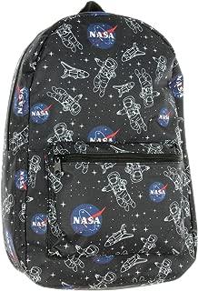 NASA Logo Astronaut Space Shuttle Allover Print School Travel Laptop Backpack