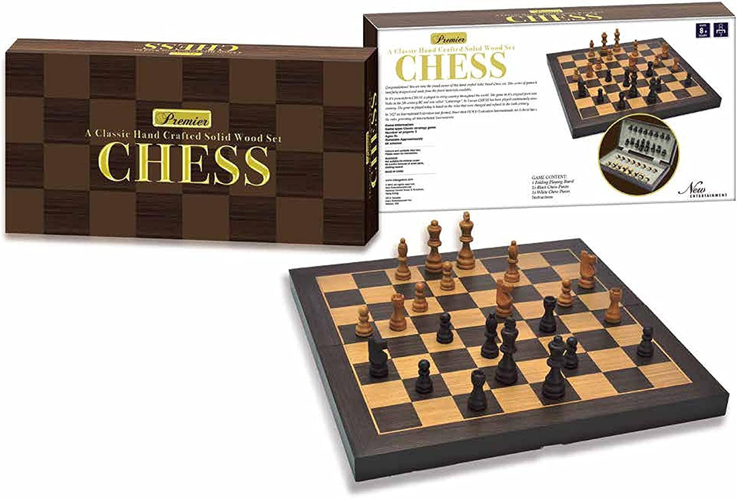 New Entertainment Premier Chess Board Game