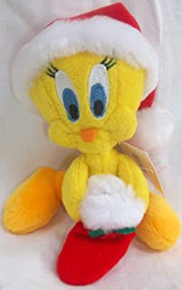 Looney Tunes December Holiday Christmas Jingle Bell Tweety Mini Bean Bag Plush Doll Toy by Warner Bros