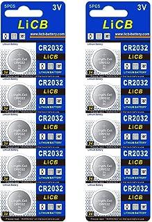 LiCB 10個入 CR2032 リチウム ボタン 電池 3V 2032 コイン形電池 水銀ゼロシリーズ