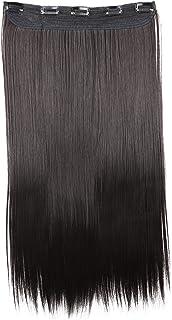 PRETTYSHOP 60cm Clip in Extensions Haarextensies Haarstukje Glad Zwartbruin C52