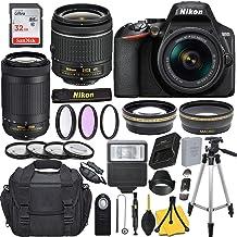 $499 » Nikon D3500 DSLR Camera with AF-P DX NIKKOR 18-55mm f/3.5-5.6G VR + AF-P NIKKOR 70-300mm f/4.5-6.3G ED + 32GB Memory Card + Slave Flash + Case + More.