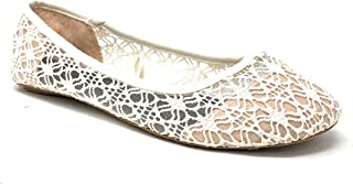 f4b8dff881cf Charles Albert Women s Breathable Crochet Lace Ballet Flat