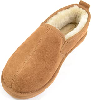 SNUGRUGS Men's Sheepskin Slipper with Hard Sole