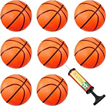 8 Pieces Mini Basketball Mini Hoop Basketballs Pool Basketball Toys with Inflation Pump for Beach Pool Sports Game Party Supplies