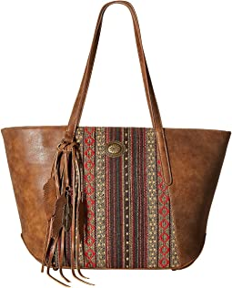 American West - Serape Zip Top Tote