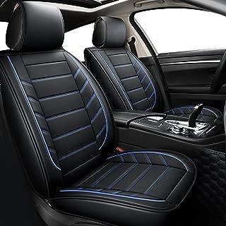 LUCKYMAN CLUB Leather Car Seat Covers fit Sedan SUV fit Lexus Rx350 Hyundai Elantra Sonata Tucson Mitsubishi Outlander Acura Tl Tsx Gmc Terrain Infiniti Qx4 (Full Set, Black and Blue)