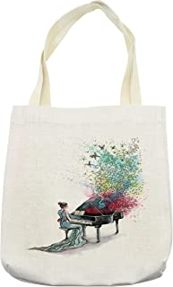 Best personalized piano music tote bag Reviews