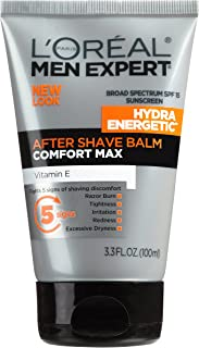 L'Oreal Paris Skincare Men Expert Hydra Energetic Aftershave Balm for Men with Vitamin E 3.3 fl. oz.