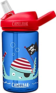 Eddy+ Kids BPA-Free Water Bottle with Straw, 14oz, Octo Pirate