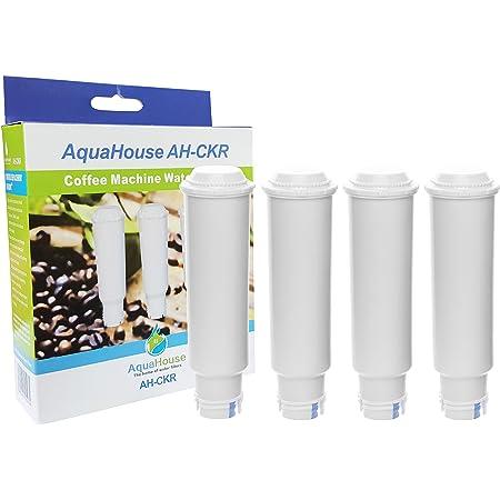 AquaHouse 4X AH-CKR Compatible pour Krups Claris F088 Filtre à Eau Cartouche pour AEG Bosch Siemens Krups Cafetière