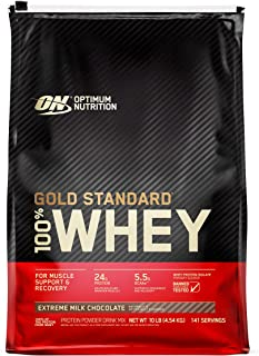 Optimum Nutrition Gold Standard 100% Whey Protein Powder, Extreme Milk Chocolate, 10 Pound (Packaging May Vary)