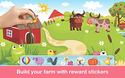 『Phonics: Fun on Farm - Reading, Spelling and Tracing Educational Program • Kids Learning Games Teaching Letter Sounds, Sight Words, ABC Flash Cards Quiz & Alphabet for Preschool, Toddler, Kindergarten and 1st Grade Explorers by Abby Monkey®』の1枚目の画像
