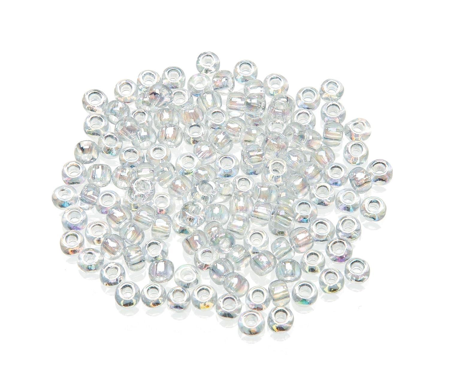 Darice Toho Japanese Glass Seed Beads, Transparent Rainbow Clear