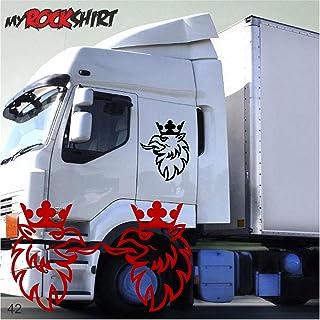 myrockshirt 2er Set Greiff Adler 40x30 cm Truck Trucker Aufkleber Anhänger Sticker `+ Bonus Testaufkleber Estrellina Glückstern ®, gedruckte Montageanleitung, Versand ERF