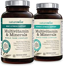NatureWise Womens & Mens Multivitamins with Stress Support from Sensoril Ashwagandha for Adaptation & Resilience (30 Day Supply - 60 Capsules)