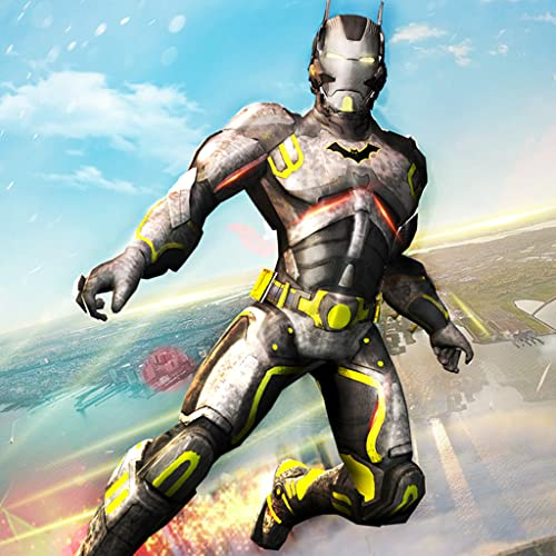 Juego de rescate Flying Robot Bat Hero City