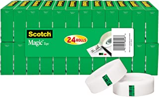 Scotch Brand Magic Tape, Numerous Applications, Cuts Cleanly, Engineered for Office and Home Use, 3/4 x 1000 Inches, Boxed, 24 Rolls (810K24)