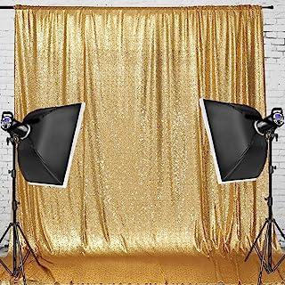 Juya Delight 2,4 m x 2,4 m, goldener Pailletten Hintergrund für Party, Festival, Hochzeit, Fotografie.