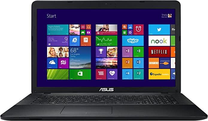 Asus F751MA-TY236H 43 9 cm  17 3 Zoll  Laptop  Intel Core Quad Celeron N2940  8GB RAM  1000GB HDD  Intel HD  DVD  Win 8  schwarz