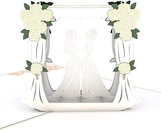 Lovepop Wedding Couple Same Sex Female Pop Up Card, Wedding Card, 3D Card, Gay Couple Card, Gay Wedding Card, Same Sex Marriage Card