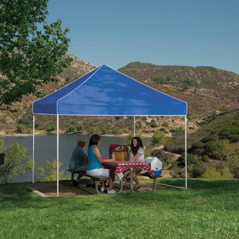 Z-Shade 10 x 10 pies Everest Instant Canopy al Aire Libre Camping Patio Shelter, Azul (2 Unidades): Amazon.es: Jardín
