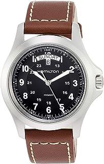 Hamilton Reloj Analogico para Hombre de Cuarzo con Correa en Cuero H64451533