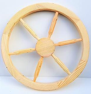 Wooden cart wheel Ornamental Wood Cart Wagon Wheels 60cm home garden decoration